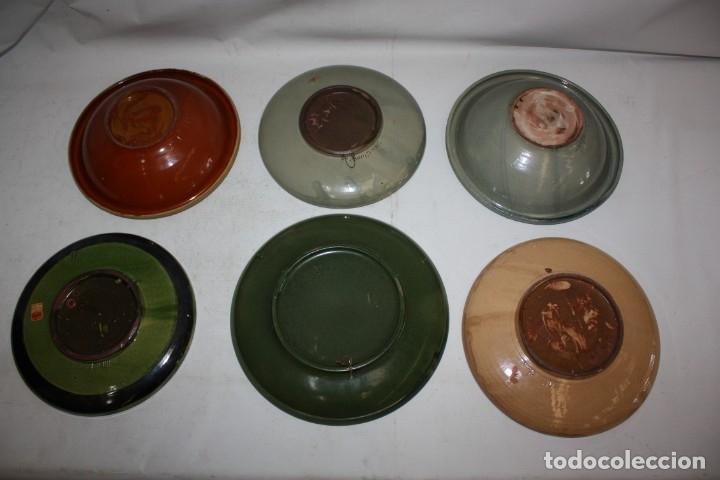 Antigüedades: LOTE DE 6 PLATOS EN CERAMICA DE VILA CLARA (LA BISBAL). MEDIADOS DEL SIGLO XX - Foto 14 - 178943711