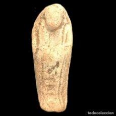 Antigüedades: INTERESANTE Y PEQUEÑO USHABTI EGIPCIO DE FAYENZA, IMPERIO TARDÍO, PERIODO: 664 - 332 BC, 37M/M. Lote 178950663