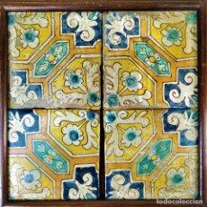 Antigüedades: CONJUNTO DE AZULEJOS BARROCOS. CERÁMICA ESMALTADA. CATALUNYA. ESPAÑA. XVII-XVIII. Lote 178954460