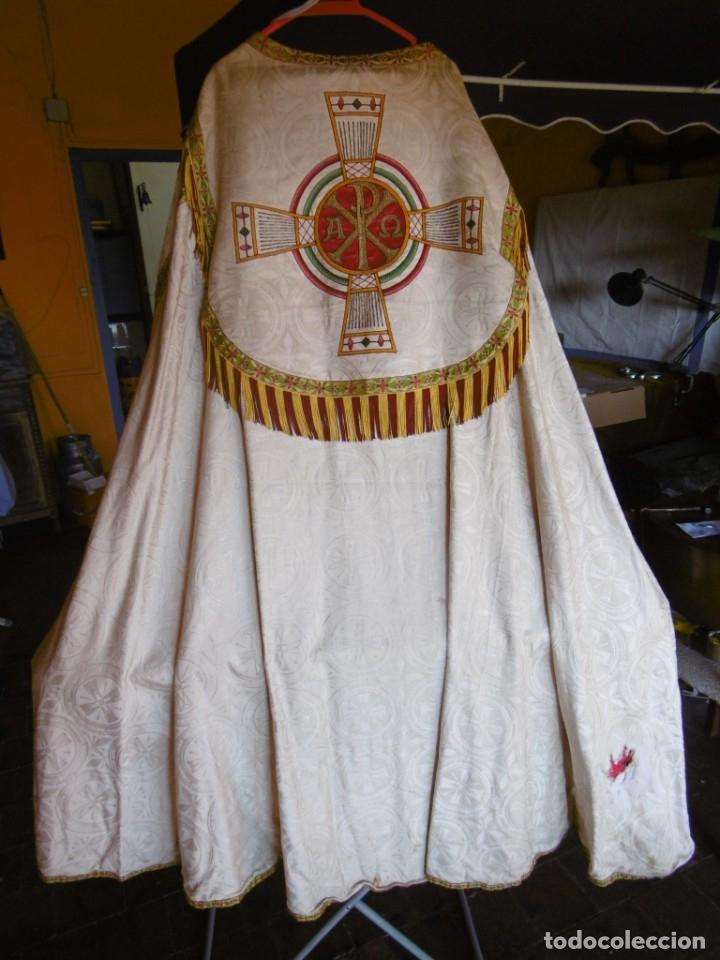 ANTIGUA CAPA PLUVIAL. LITURGIA. (Antigüedades - Religiosas - Capas Pluviales Antiguas)