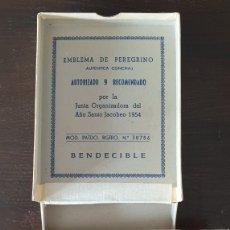 Antigüedades: INSIGNIA DE PEREGRINO JACOBEO 1954. Lote 178957761