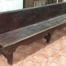 Antigüedades: GRAN BANCO DE MADERA 2,65 CM DE LARGO SIGLO XIX. Lote 178967337