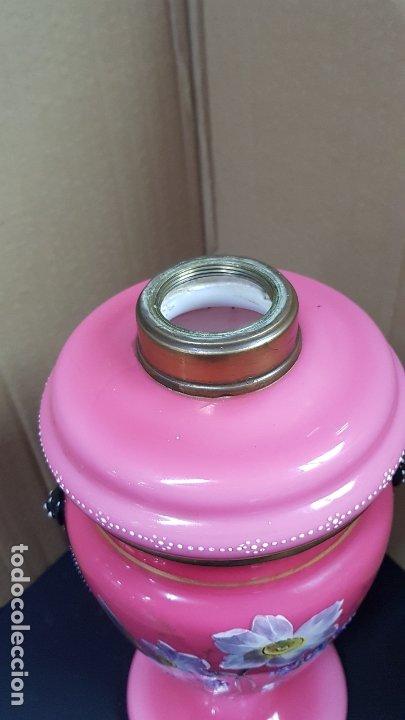 Antigüedades: impresionante quinque en opalina rosa pintado a mano principio siglo xx cristal modernista - Foto 23 - 178968168