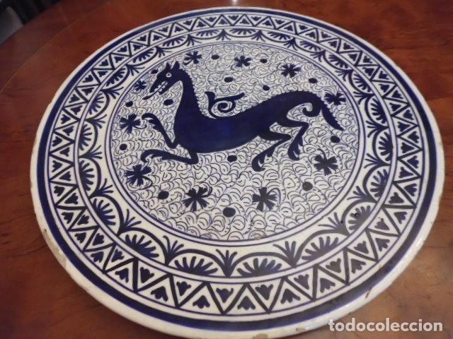 CERAMICA-LOZA 41 CMS. X 3,5 GRAN BANDEJA, PLATO MURAL,PROBABLE MANISES DECADA DE LOS 40-50 (Antigüedades - Porcelanas y Cerámicas - Fajalauza)