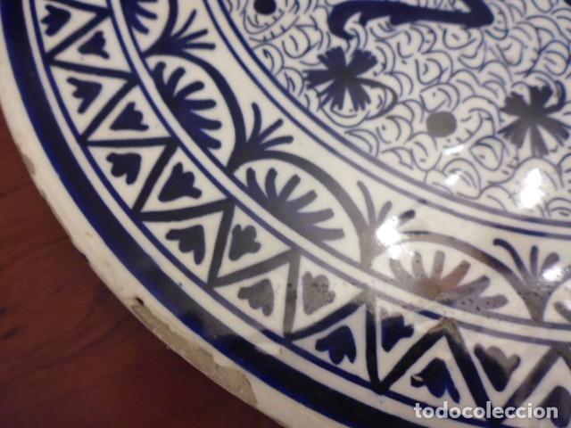 Antigüedades: CERAMICA-LOZA 41 CMS. X 3,5 GRAN BANDEJA, PLATO MURAL,PROBABLE MANISES DECADA DE LOS 40-50 - Foto 5 - 202937783