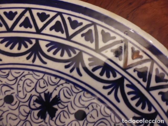 Antigüedades: CERAMICA-LOZA 41 CMS. X 3,5 GRAN BANDEJA, PLATO MURAL,PROBABLE MANISES DECADA DE LOS 40-50 - Foto 8 - 202937783