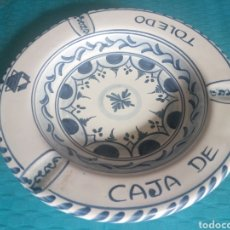 Antigüedades: CERÁMICA PUENTE DEL ARZOBISPO CAJA DE TOLEDO DE LA CAL BARREIRA. Lote 200514861