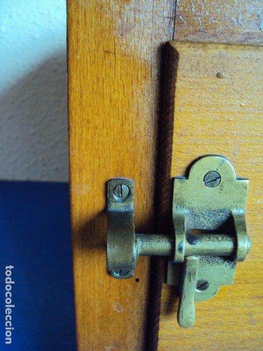 Antigüedades: (ANT-191008)NEVERA PORTATIL DE MADERA - INTERIOR DE ZINC - Foto 3 - 179002907