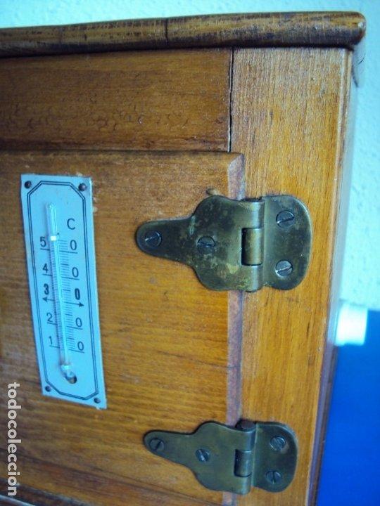 Antigüedades: (ANT-191008)NEVERA PORTATIL DE MADERA - INTERIOR DE ZINC - Foto 4 - 179002907