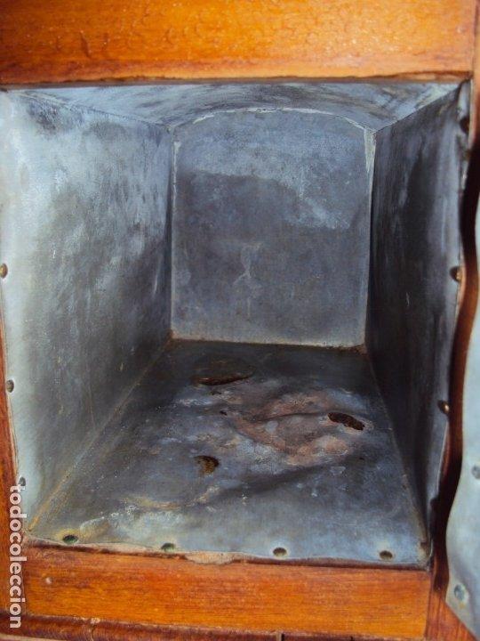 Antigüedades: (ANT-191008)NEVERA PORTATIL DE MADERA - INTERIOR DE ZINC - Foto 6 - 179002907