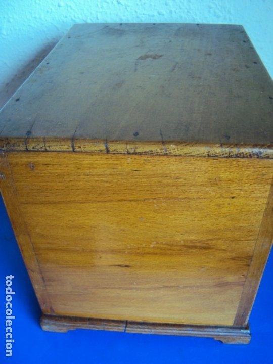 Antigüedades: (ANT-191008)NEVERA PORTATIL DE MADERA - INTERIOR DE ZINC - Foto 11 - 179002907