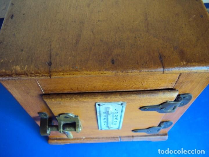Antigüedades: (ANT-191008)NEVERA PORTATIL DE MADERA - INTERIOR DE ZINC - Foto 14 - 179002907