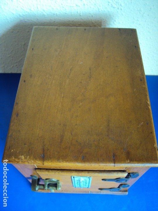 Antigüedades: (ANT-191008)NEVERA PORTATIL DE MADERA - INTERIOR DE ZINC - Foto 15 - 179002907