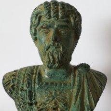 Antigüedades: BUSTO DE BRONCE DE SEPTIMIO SEVERO. Lote 179013976