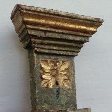Antigüedades: TROZO DE RETABLO BARROCO, SE PUEDE ADAPTAR COMO MÉNSULA. Lote 179015345