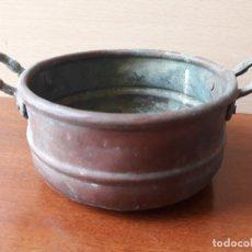 Antigüedades: CALDERO OLLA REDONDA DE COBRE. Lote 179026817