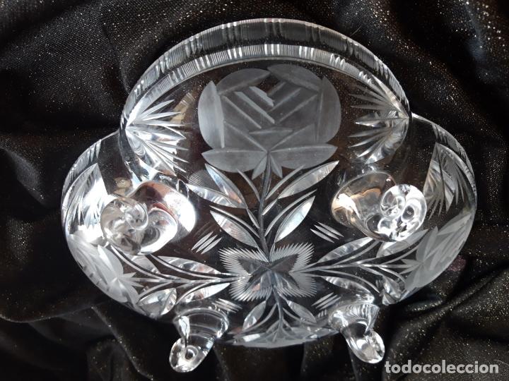 Antigüedades: Centro mesa cristal tallado - Foto 2 - 179028287