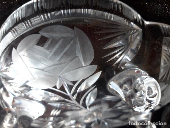 Antigüedades: Centro mesa cristal tallado - Foto 4 - 179028287