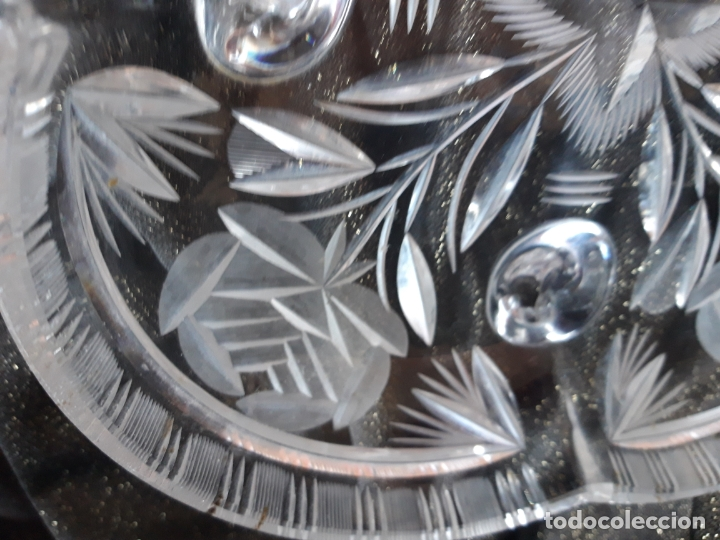 Antigüedades: Centro mesa cristal tallado - Foto 8 - 179028287