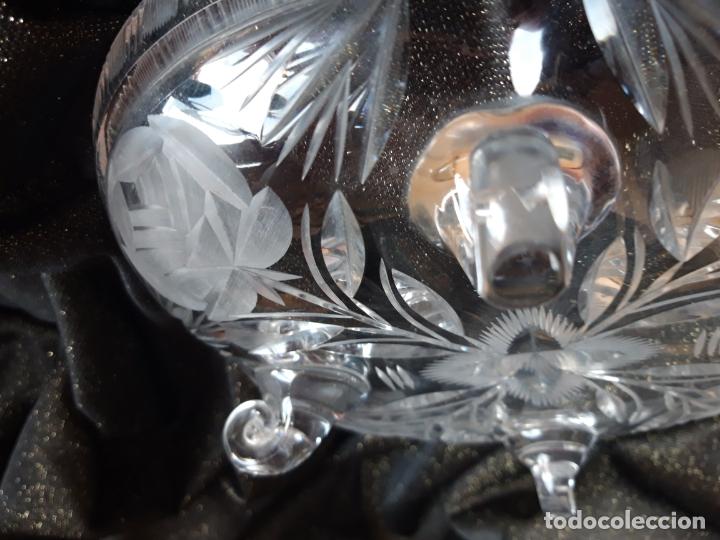 Antigüedades: Centro mesa cristal tallado - Foto 9 - 179028287