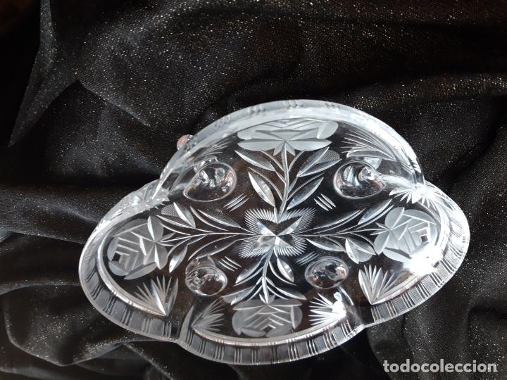 Antigüedades: Centro mesa cristal tallado - Foto 13 - 179028287
