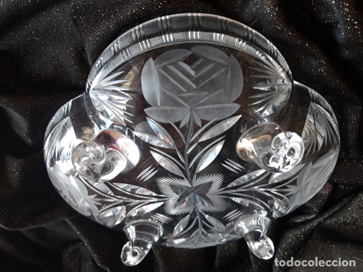 Antigüedades: Centro mesa cristal tallado - Foto 14 - 179028287