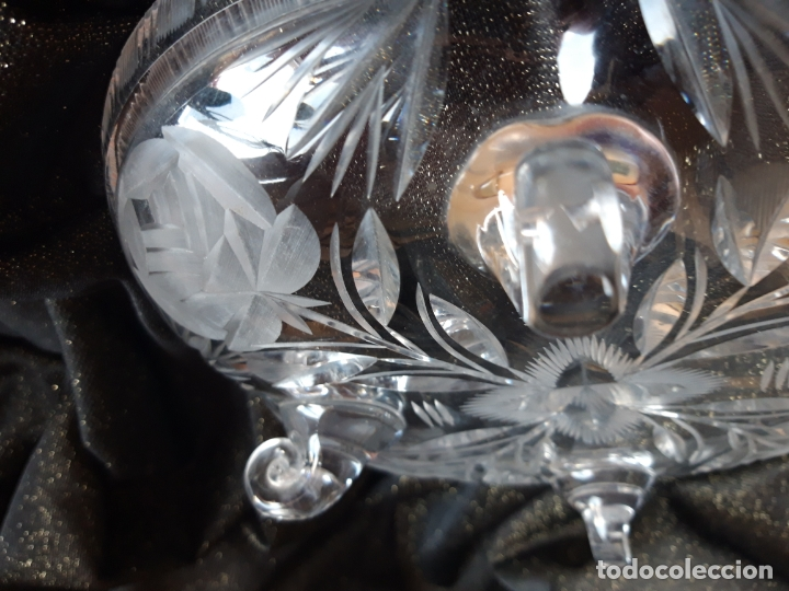 Antigüedades: Centro mesa cristal tallado - Foto 16 - 179028287