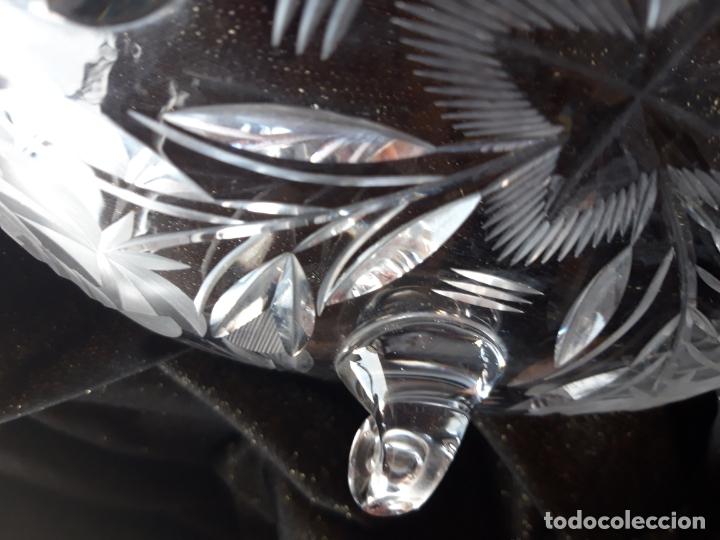 Antigüedades: Centro mesa cristal tallado - Foto 17 - 179028287