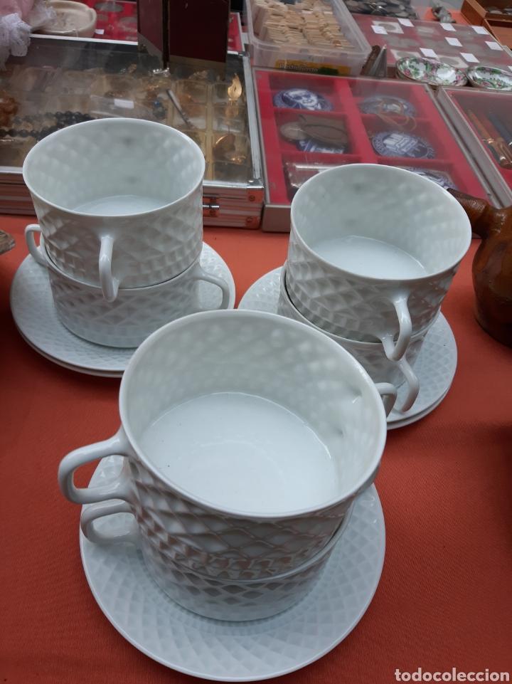 CASTRO SADA SARGADELOS JUEGO 6 TAZAS Y PLATOS PERFECRO (Antigüedades - Porcelanas y Cerámicas - Sargadelos)