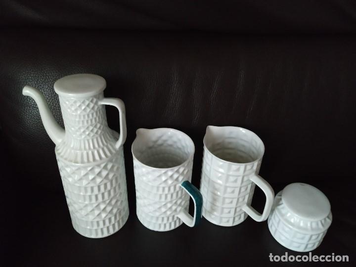 CASTRO SARGADELOS 4 PIEZAS DE JUEGO DE CAFE (Antigüedades - Porcelanas y Cerámicas - Sargadelos)
