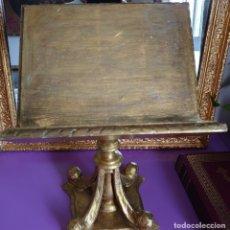 Antigüedades: ANTIGUO ATRIL MADERA TALLADA 43CM. Lote 179040185
