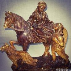 Antigüedades: ANTIGUA FIGURA ROMÉO Y JULIETA. Lote 179052548