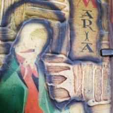 Antigüedades: TABLA CON IMAGEN DE LA VIRGEN Y NIÑO JESÚS.. ANTIGUA. Lote 179054830