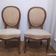 Antigüedades: PAREJA DE SILLAS ESTILO VICTORIANO. Lote 179064213