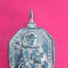 Antigüedades: ANTIGUA MEDALLA DE STO. DOMINGO DE SORIA Y LA VIRGEN DEL ROSARIO. S XVII. 2 X 3 CM.. Lote 179068298