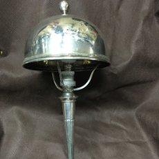 Antigüedades: LAMPARA ANTIGUA DE PLATA DE LEY. Lote 179073365