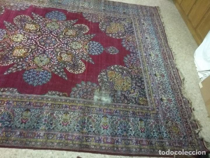 Antigüedades: Alfombra persa de 3.5 x 4 metros color burdeos - Foto 4 - 123249975