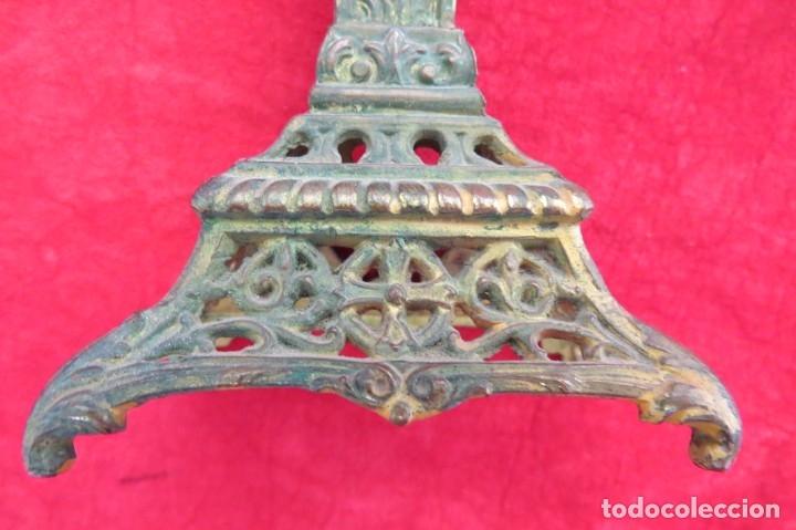 Antigüedades: ANTIGUO CRUCIFIJO CRUZ - DE METAL - VIRGEN - Foto 3 - 179076711