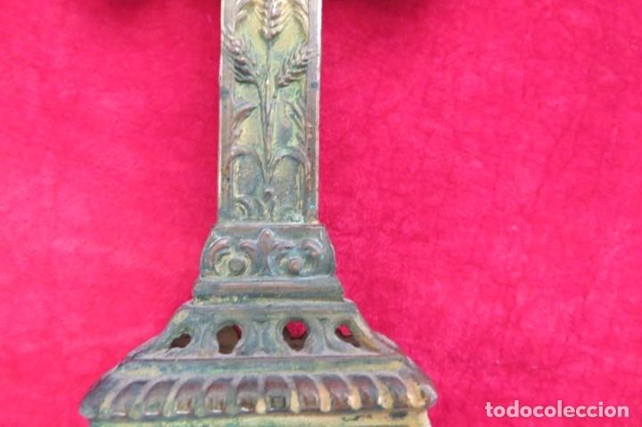 Antigüedades: ANTIGUO CRUCIFIJO CRUZ - DE METAL - VIRGEN - Foto 5 - 179076711