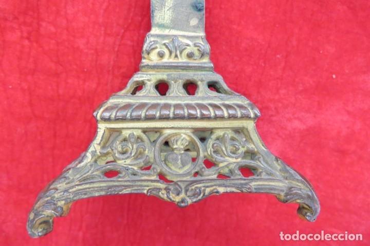Antigüedades: ANTIGUO CRUCIFIJO CRUZ - DE METAL - VIRGEN - Foto 9 - 179076711