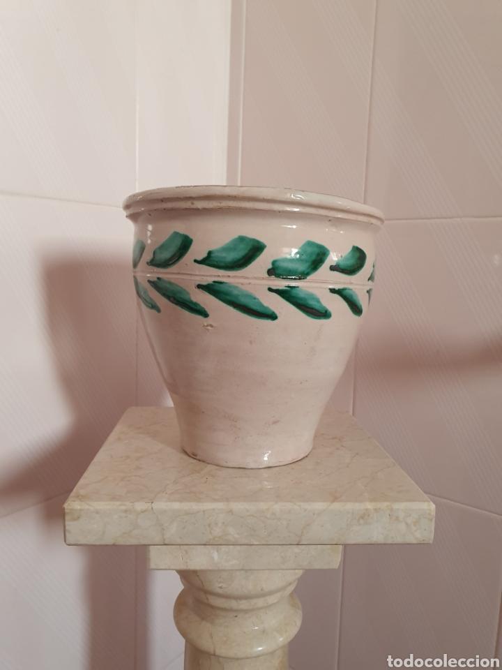 ANTIGUA ORZA MANTEQUERA CERÁMICA DE TRIANA (SEVILLA) (Antigüedades - Porcelanas y Cerámicas - Triana)