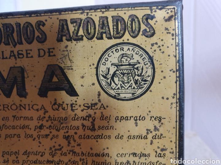 Antigüedades: ANTIGUA CAJA METALICA CONTRA EL ASMA DOCTOR D S.ANDREU - Foto 4 - 179085290