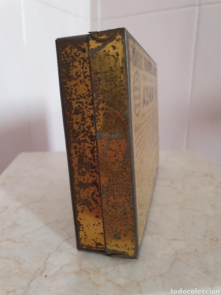 Antigüedades: ANTIGUA CAJA METALICA CONTRA EL ASMA DOCTOR D S.ANDREU - Foto 5 - 179085290