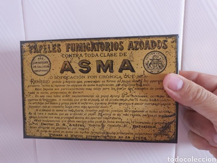 Antigüedades: ANTIGUA CAJA METALICA CONTRA EL ASMA DOCTOR D S.ANDREU - Foto 8 - 179085290