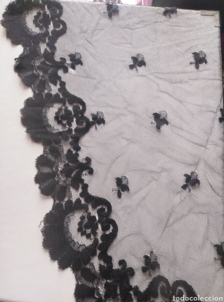 MANTELLINA NEGRA PARA CUBRIR CABEZA EN MISA IGLESIA CATÓLICA (Antigüedades - Moda - Mantillas)