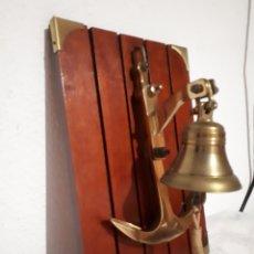 Antigüedades: CAMPANA DE BRONCE COLGANTE. Lote 274168398