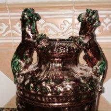Antigüedades: EXCELENTE JARRON DE TRIANA DE REFLEJOS. Lote 179108891