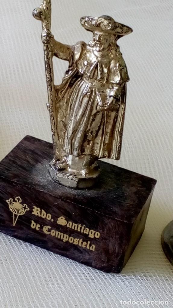 Antigüedades: LOTE DE 9 PEQUEÑOS OBJETOS DE SANTOS, VIRGENES.. - Foto 5 - 179109518