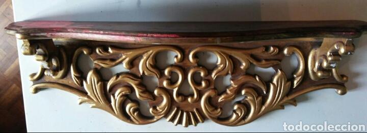 Antigüedades: Peana o mensula antigua en madera policromada - Foto 2 - 179109711