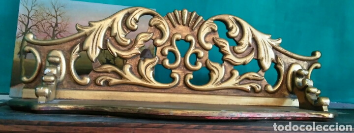 Antigüedades: Peana o mensula antigua en madera policromada - Foto 3 - 179109711